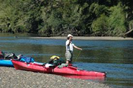 red-kayak